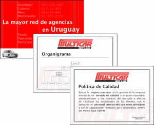 Carteles para Multicar Rent-A-Car (tamaño A3 - 29.7 x 41.9 cm)