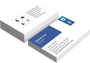 Diseño de tarjetas comerciales de idearius