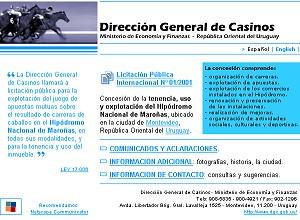 Desarrollo web para la Dirección General de Casinos del Estado (Hipódromo Nacional de Maroñas)