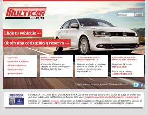 Desarrollo web para Multicar Rent-A-Car
