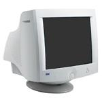 Imagen de un típico monitor CRT con pantalla y tubo de vidrio